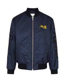 Kenzo Navy Embroidered Shell Bomber Jacket