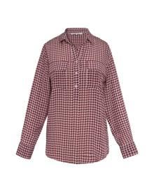 Gerard Darel Silk Polka Dot Marla Shirt