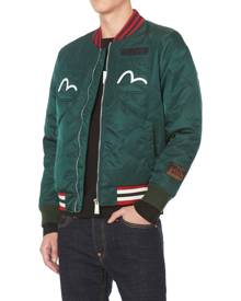 Evisu Quilted Jacket With Godhead Embroidery