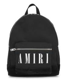 Amiri Black Logo Canvas Backpack
