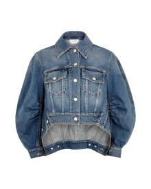 Alexander McQueen Blue Cropped Denim Jacket