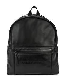 Saint Laurent Black Logo Leather Backpack