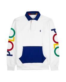 Polo Ralph Lauren White Logo-print Jersey Polo Shirt