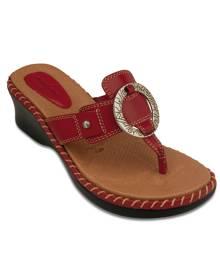 Minnetonka Denver Slide (Red) - Womens Sandal