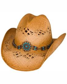 Bullhide by Montecarlo Hat Co. Bullhide Tequila Sunrise - Shapeable Straw Cowgirl Hat