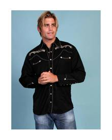 Scully Gold Embroidery Note - Mens Western Shirt