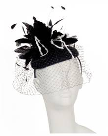 Scala Solitude Fascinator - Womens Church Hat