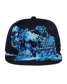 Otto Cap NY Flowers - Lackpard Flat Brim Ball Cap - Navy - Closeout