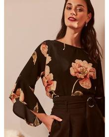 5d77eea8a5d Izabel London Floral Frill Sleeve Blouse