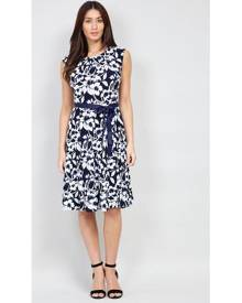 a7807a6d3f7 Izabel London Floral Tie Waist Fit & Flare Dress
