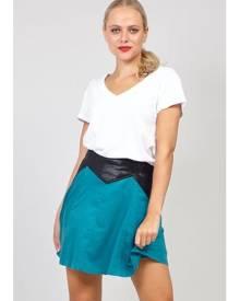 Izabel London PU Trim Short Skirt
