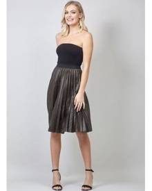 Izabel London Animal Print Pleated Skirt