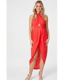Izabel London Halter Neck Wrap Dress