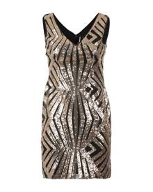 Izabel London Aztec Plunge Sequin Dress