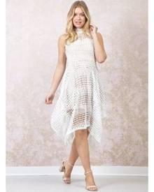 Izabel London Lace Hanky Hem Dress