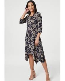 Izabel London Floral Hanky Hem Dress
