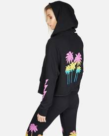 Destiny Neon Palm Trees - M Black