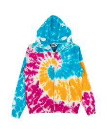 Bape Tie Dye Shark Wide Full Zip Hooded Sweatshirt - Medium
