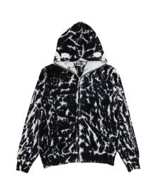 Bape Tie Dye Shark Full Zip Hooded Sweatshirt - Large