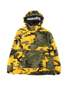 Supreme Hooded Logo Half Zip Pullover - 'FW 17' - Yellow Camo