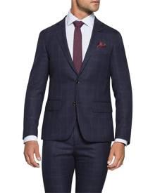 Van Heusen Suit Jackets Super Slim Fit Suit Jacket Ink Plaid Check Ink 100