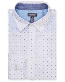 Van Heusen Casual Shirts Never Tuck Slim Fit Long Sleeve Shirt Circle Print