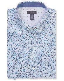 Van Heusen Casual Shirts Never Tuck Slim Fit Short Sleeve Shirt Shark Print