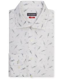 Van Heusen Business Shirts Slim Fit Shirt White With Sage Print