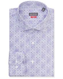 Van Heusen Business Shirts Slim Fit Shirt Purple Floral Tile Print