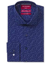 Van Heusen Business Shirts Slim Fit Shirt Navy Cross Print Navy S