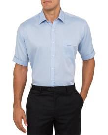 Van Heusen Business Shirts Classic Relaxed Fit Short Sleeve Shirt Textured