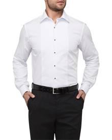 Van Heusen Men's Euro Fit Tuxedo Shirt With Semi Spread Collar