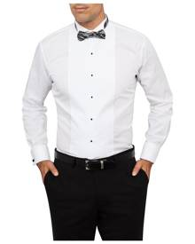 Van Heusen Business Shirts Euro Tailored Fit Tuxedo Shirt With Wing Collar