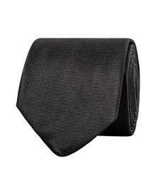 Van Heusen Mens Ties Mens Euro Tie Solid Black Black One