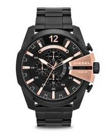 792943e7e0c Diesel Mega Chief Black Stainless Steel Watch DZ4309