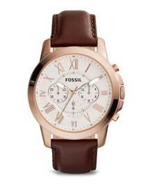 Fossil Grant Dark Brown Leather Watch FS4991