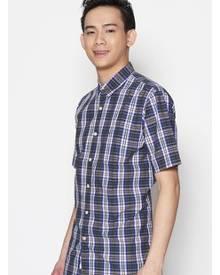 Dockers Short Sleeve Laundered Poplin Shirt Eoe - Eclipse