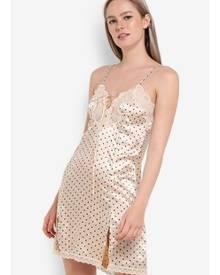 Impression Lace Printed Night Dress