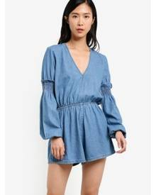 The Fifth Label Sentiment Long Sleeve Playsuit