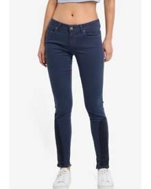 Paige Colour Block Saddle Patch Jeans