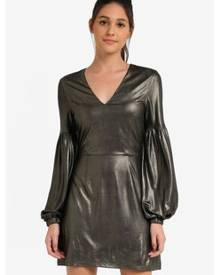 Something Borrowed V-Neck Dress With Balloon Sleeves