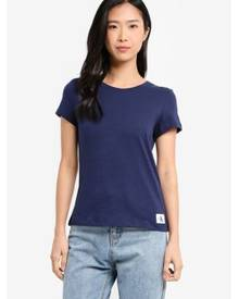 Crew Neck Short Sleeve Basic Top - Calvin Klein Jeans