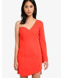 TOPSHOP Structured One Shoulder Bodycon Dress