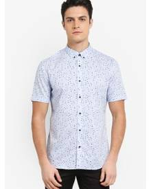 G2000 Irregular Dot Print Short Sleeve Shirt