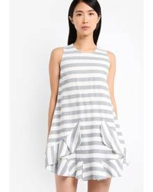ZALORA Sleeveless Ruffle Swing Dress
