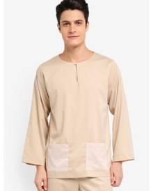 Zalia Homme Contrast Pocket Top