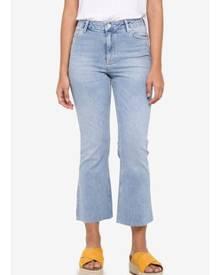 Miss Selfridge Blue Cropped Flare Jeans