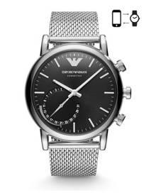 Emporio Armani Armani Luigi 43 Hybrid Se1 Silver Smart Watch ART3007