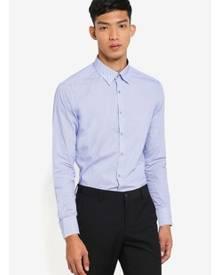 G2000 Dot and Line Cotton Long Sleeve Shirt