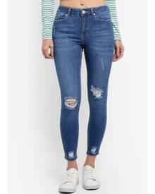 Miss Selfridge Busted Hem Lizzie Jeans